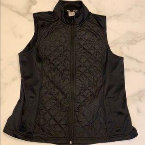 Fila Sport Black Quilted Winter Running Vest